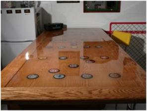 Pictures of an epoxy table top made from Product #214