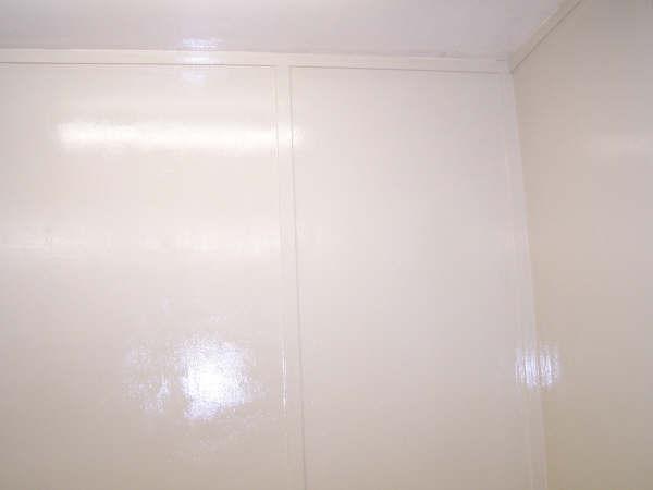 Epoxy Coating on Food Wagon walls and ceilings.